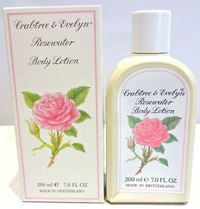 Crabtree & Evelyn ROSEWATER Body Lotion, 7 oz, VINTAGE 1990