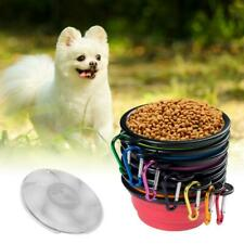Collapsible Pet Cat Dog Bowl with Lid Silicone Food Water Travel Dish Feeder Cup