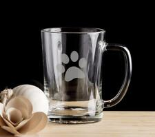 Paw Print Beer Mug Pint Glass Gift for him.01