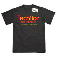 TECH NOIR NIGHTCLUB INSPIRED BY TERMINATOR PRINTED T-SHIRT