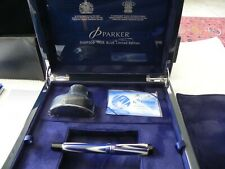 PARKER  DUOFOLD  CENTENNIAL  TRUE  BLUE  LIMITED  EDITION  FOUNTAIN  PEN . NEW !