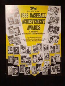 Topps 1989 Baseball Achievement Awards Program Sandy Alomar & Ken Griffey Jr +