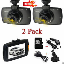 "2 Full HD 1080P 2.4"" Car Video DVR Vehicle Camera Recorder Dash Cam Night Vision"