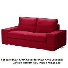 Ikea Red KIVIK COVER for Kivik Loveseat 2seat Sofa DANSBO MEDIUM RED slipcover