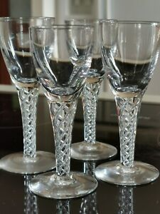 VINTAGE STUART CRYSTAL ARIEL DESIGN PORT GLASSES X 4