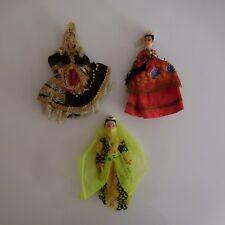 3 poupées personnages ethniques femmes orientales tradition art nouveau XXe PN