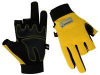 3 Finger Cut Gloves Carpenters Charpentier Gants Worker Framers Working Woodwork