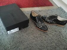 🌟Clarks Black Pat Leather Studded Hotel Whizz Brogues,Size UK 6 D ,Worn 3T🌟