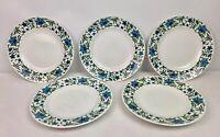 """Vintage Midwinter Spanish Garden Starter Plate x 5 Fine Tableware 8.75"""" 1960's"""