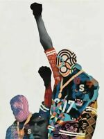 IN HAND Tristan Eaton Black Panther Print Art Olympics Tommie Smith 18x24 Signed
