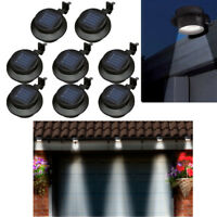 Solar Powered Led Gutter Door Wall Fence Lights Outdoor Solar Garden Security