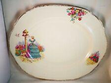 More details for crinoline lady serving plate rosalie china garden platter j. fryer dinner