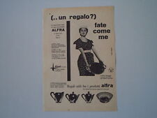 advertising Pubblicità 1956 ALFRA ALESSI - CRUSINALLO