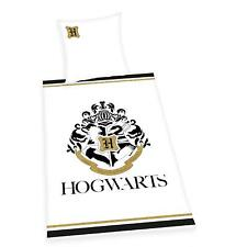 Bettwäsche glatt Herding Harry Potter Hogwarts Logo 135 x 200 cm NEU WOW