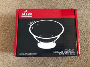 All-Clad Stainless Steel 1.5 Quart Spherical Bowl and Base