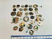 Job Lot of Vintage Quartz Watch Movement Parts For Spares / Watchmaker (205)