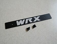 "Aluminum Black Front License Plate Delete w / ""WRX"" Logo Fully Laser Engraved"