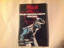 1981 Mack Truck Sales Service Parts Center Brochure