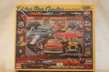 White Mountain 1000 Piece Puzzle Oldies But Goodies Cars Hot Rod Cruising RARE