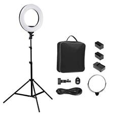 """Professional Studio Photography Dimmable Ring Lightning Kit Portrait Makeup 14"""""""