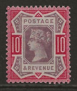 GB 1890 10d dull purple & carmine Jubilee VF fresh MINT MLH OG SG#210 cat £90