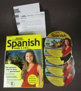 Instant Immersion - Spanish Levels 1,2 & 3 - 4 Disc Set Eurotalk WIN/MAC