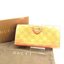 cd0315c6577 Gucci Wallet Purse Guccissima Orange Woman unisex Authentic Used Y5734