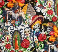Contigo Chichén Itzá Pyramid Aztec Mexico Mayan Alexander Henry Cotton Fabric
