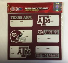 Texas A&M Aggies Christmas Present Name Labels Team Gift Stickers - To/From NCAA