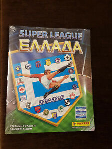 PANINI SUPER LEAGUE GREECE 2014-2015 SEALED!!! ALBUM+FULL SET!