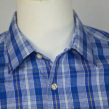 NWT BANANA REPUBLIC Slim Fit Non Iron Cotton Dress Shirt Sz M 15.5 33/34 Blue