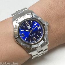 TAG HEUER 2000 Exclusive Quartz Date Man / Unisex Size 37mm Blue color dial