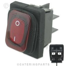 SW24 Rosso Illuminato 16 AMP su OFF IMPERMEABILE Potenza Interruttore Rocker 30mm x 22mm