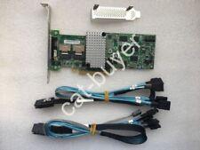LSI00202 Megaraid SAS 9260-8i RAID controller+SFF-8087 to (4) 7-Pin SATA cables