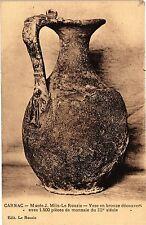 CPA   Carnac - Musée J.Miln-Le Rouzic - Vase en bronze découvert ...   (205980)