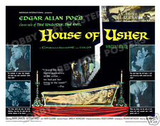 HOUSE OF USHER LOBBY CARD POSTER HS 1960 VINCENT PRICE MYRNA FAHEY MARK DAMON