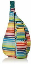 KAVU Original Rope Sling Bag Polyester Crossbody Backpack - Summer Stripe