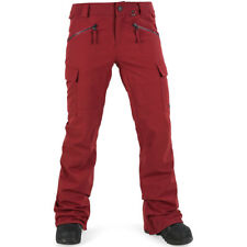 2018 NWT WOMENS VOLCOM ROBSON SNOW PANTS $180 L deep red stretch slim fit