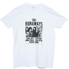 THE RUNAWAYS T SHIRT Hard Rock Punk Hole L7 Joan Jett Bikini Kill Band Tee