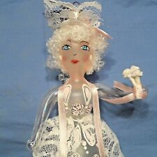 "Radko 2000 ""Gloriana"" Rare Pink Angel with Lace & Rose Ornament New w/Tag Italy"