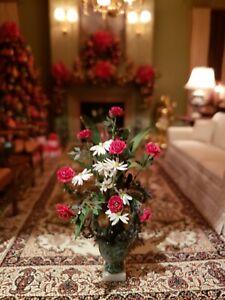 Dollhouse Miniature Artisan Signed Floral Bouquet
