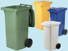 Bidoni quadrati Lt. 240 con ruote per rifiuti colore blu