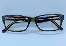 Prada VPR 16M Brown Green Rectangle Eyeglass Frames ZHX - 101 53/16 140 @003