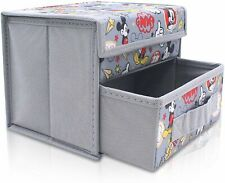 Finex Mickey Mouse Gray Grey Foldable Storage Organizer Box for Desk Collapsible