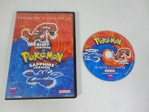 Pokemon Ruby & Sapphire Version Collector's Edition CD Nintendo RARE Game 2003