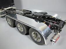Pair Aluminum Rear Tri Axle Fender +Mount Tamiya 1/14 King Grand Knight Hauler