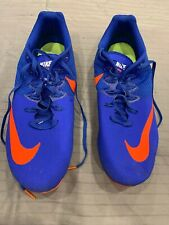 Nike Mens Zoom Rival S Track and Field Running Spikes Shoes Orange Blue 12