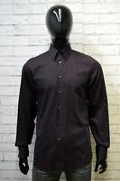 CALVIN KLEIN Camicia Uomo Taglia 39 15,5 ( M ) Slim Maglia Camicetta Shirt Righe