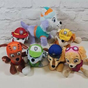 8 Paw Patrol Plush Soft Toys Bundle Everest Marshall Zuma Rocky Rubble Skye