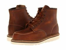 RED WING COPPER ROUGH & TOUGH LEATHER CLASSIC MOC LACE UP MENs BOOTS 1907 BROWN